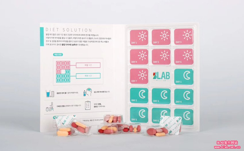 韩国减肥产品 伯莱BLAB减肥药一盒 28天量